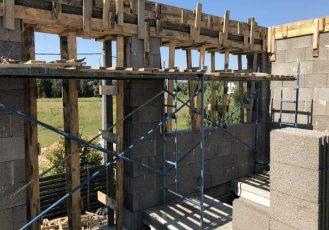Кладка керамзитно-бетонных блоков